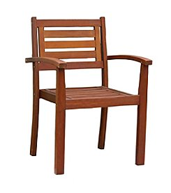 Northbeam Eucalyptus Stacking Arm Chair