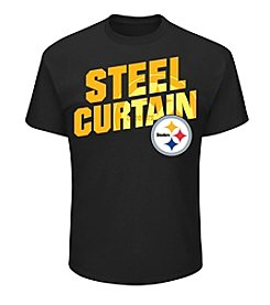 Majestic® NFL® Pittsburgh Steelers Men's Steel Curtain Tee