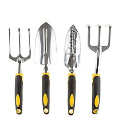 Pure Garden 4-Piece Garden Tool Set with Comfort Grip Handles