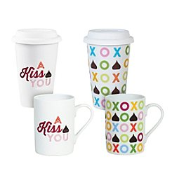 Hershey's By Fitz and Floyd® Set of 4 XO-Kiss For You Mugs and Travel Mugs