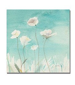 Trademark Fine Art Sheila Golden 'White Poppies' Canvas Art