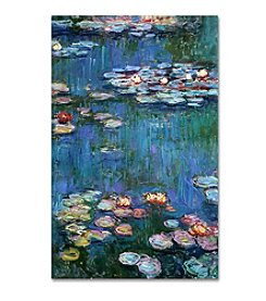 Trademark Fine Art Claude Monet 'Waterlilies Classic' Canvas Art