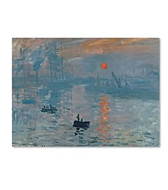 Trademark Fine Art Claude Monet 'Impression Sunrise' Canvas Art