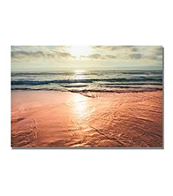 Trademark Fine Art Ariane Moshayedi 'Sunset Beach Reflections' Canvas Art