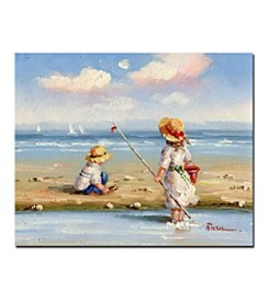 Trademark Fine Art 'At the Beach III' Canvas Art