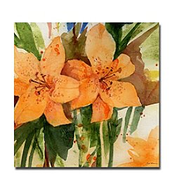 Trademark Fine Art Sheila Golden 'Tiger Lilies' Canvas Art
