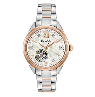 Bulova® Women's Two-Tone Automatic Exhibition Diamond Wa