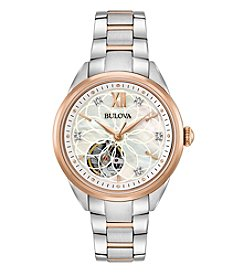 Bulova® Women's Two-Tone Automatic Exhibition Diamond Watch