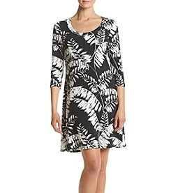 Karen Kane® Leaf A-line Dress
