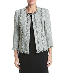 Kasper® Tweed Flyaway Celadon Jacket
