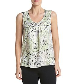 Kasper® V-Neck Pleated Cami