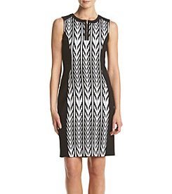 Calvin Klein Printed Color Blocked Dress