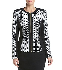 Calvin Klein Color Blocked Zip Front Jacket