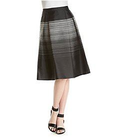 Calvin Klein Striped Flared Skirt