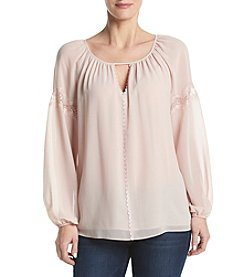Max Studio Edit™ Pink Peasant Top