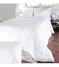 Bluestone Oversized Reversible Down Alternative Comforter with Sherpa
