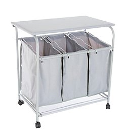 Lavish Home Laundry Sorter and Ironing Station