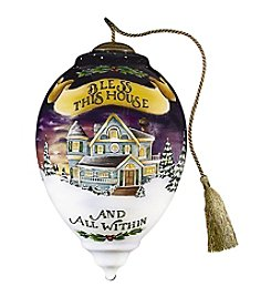 Ne'Qwa Art® Bless This House by Betty Padden Princess-Shaped Glass Ornament