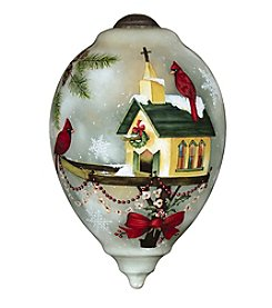 Ne'Qwa Art® Let Heaven and Nature Sing by Sandy Lynam Clough Princess-Shaped Glass Ornament