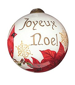 Ne'Qwa Art® Joyeux Noel by Sandy Lynam Clough Petite Round-Shaped Glass Ornament