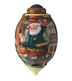 Ne'Qwa Art® Santa's Toy Shop by Susan Winget Trillion-Shaped Glass Ornament