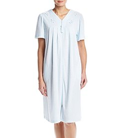 Miss Elaine® Short Sleeve Zip Robe