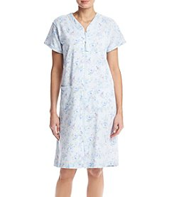 Miss Elaine® Floral Zip Robe