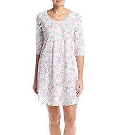 Miss Elaine® Long Sleeve Floral Nightgown