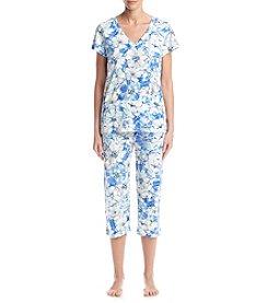 Miss Elaine® Floral Print Pajama Set