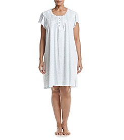 Miss Elaine® Plus Size Short Sleeve Print Nightgown
