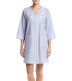Miss Elaine® Stripe Zip Robe
