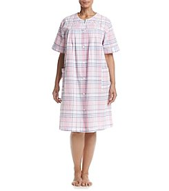 Miss Elaine® Plus Size Plaid Robe