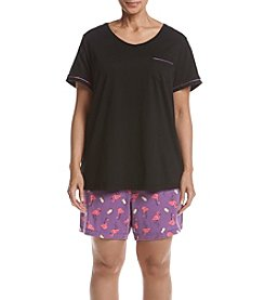 Intimate Essentials® Plus Size Flamingo Bermuda Pajama Set