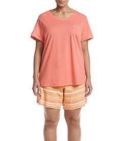 Intimate Essentials® Plus Size Stripe Bermuda Pajama Set