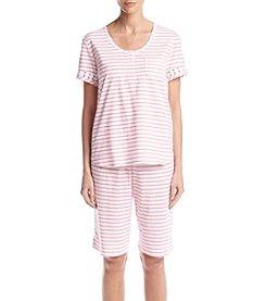 KN Karen Neuburger Stripe Bermuda Pajama Set