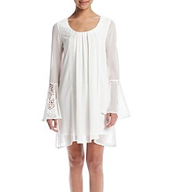 My Michelle® Lace Bell-Sleeve Shift Dress