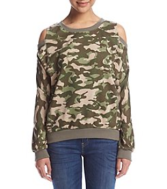 no comment™ Cold-Shoulder Pullover