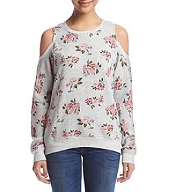 no comment™ Cold-Shoulder Rose Pullover