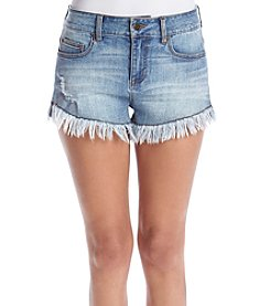 Celebrity Pink High Rise Furry Cuff Shorts