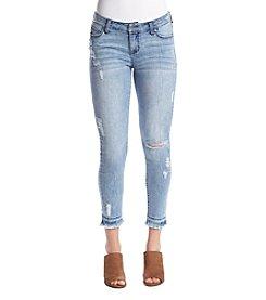 Celebrity Pink Destructed Skinny Jeans