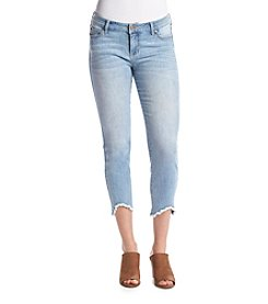 Celebrity Pink Fray Bottom Ankle Jeans