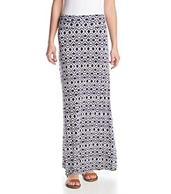 Sequin Hearts® Blurry Diamond Maxi Skirt