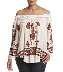 Skylar & Jade™ Plus Size Off-Shoulder Floral Top