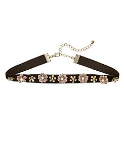 Relativity® Choker With Flower Accents