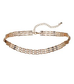 Relativity® Rose Goldtone Diamond Pattern Choker Necklace