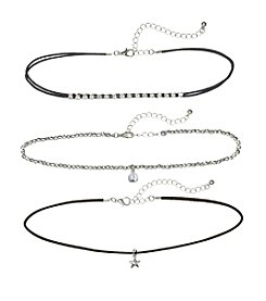 Relativity® Three Piece Choker Necklace Set