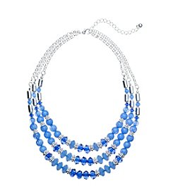 Studio Works® Three Row Beaded Necklace
