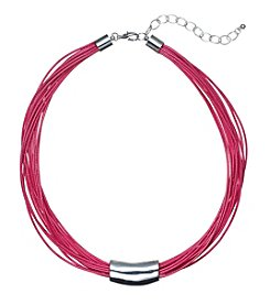 Studio Works® Multi Row Pink Cord Necklace