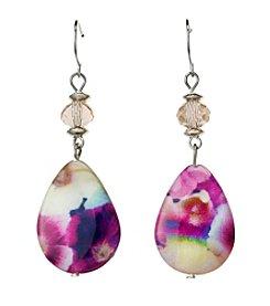 Studio Works® Printed Shell Teardrop Earrings