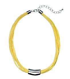 Studio Works® Multi Row Yellow Cord Necklace